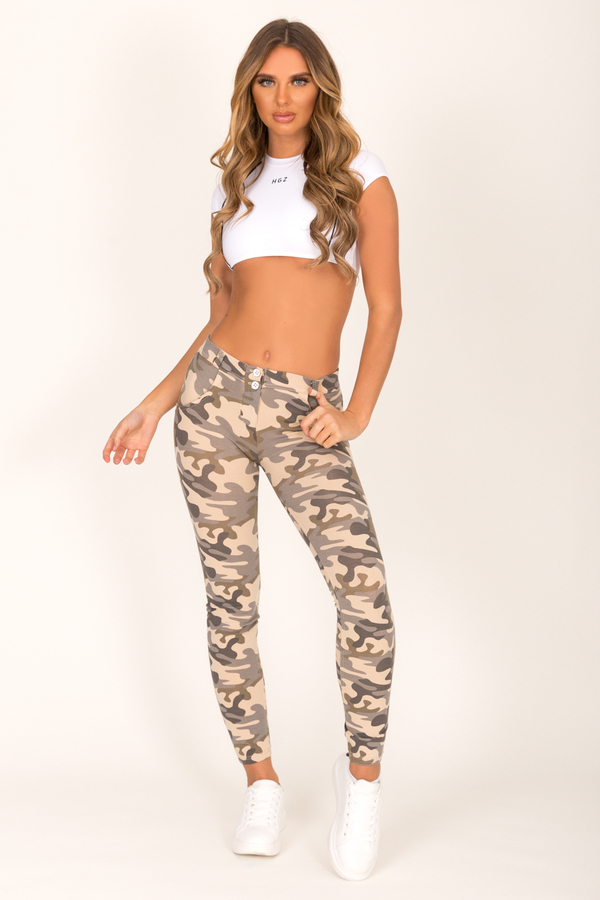 Hugz Camo Light Low Waist Jegging - 3
