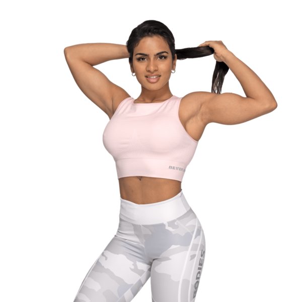 Better Bodies Top Rib Seamless Pale Pink Melange, M - 3