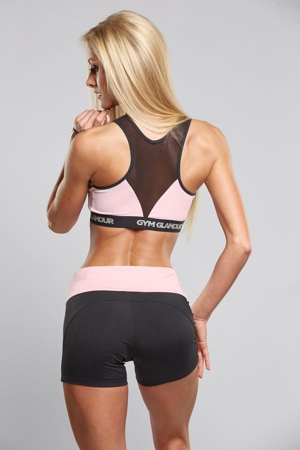 Gym Glamour Kraťásky Black & Pink, M - 3