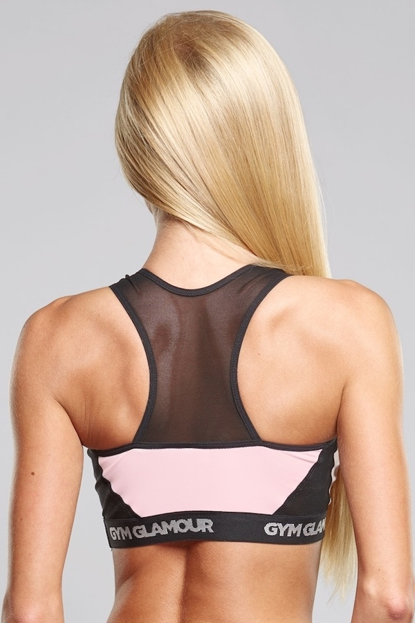Gym Glamour Podprsenka Pink Mesh, M - 3
