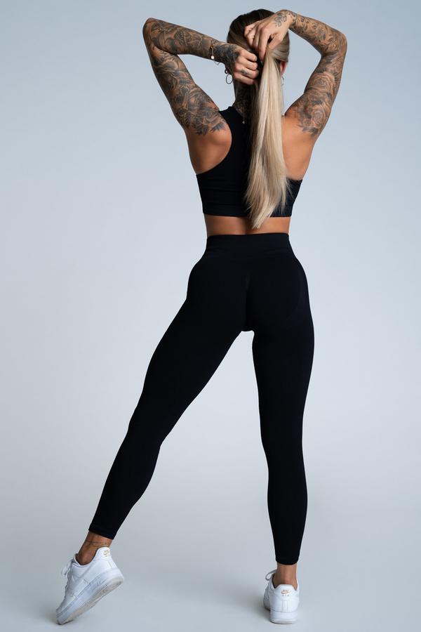 Gym Glamour Legíny Push Up Deep Black - 3