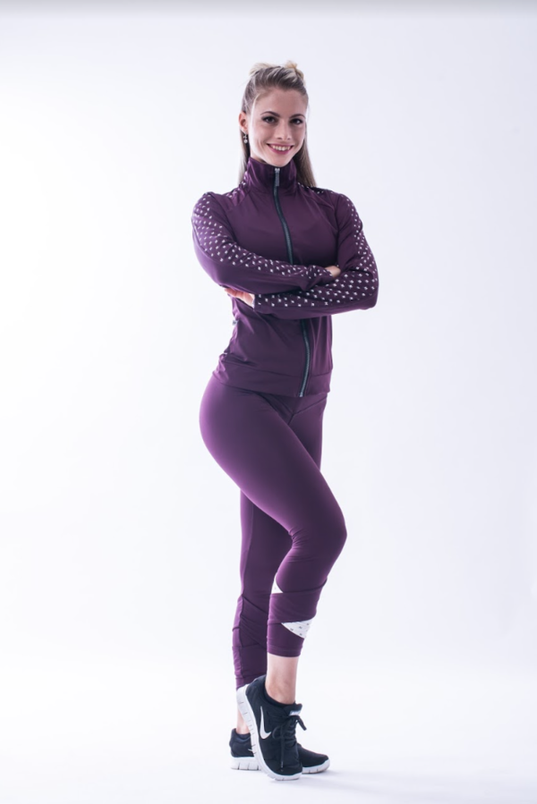 Nebbia 639 Asymmetrical 7/8 Leggings Burgundy - 3