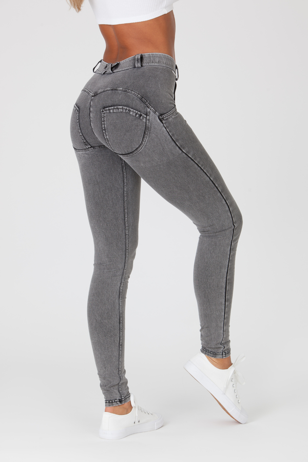 Boost Jeans Mid Waist Grey - 3