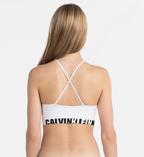 Calvin Klein Podprsenka Longline White, L - 3