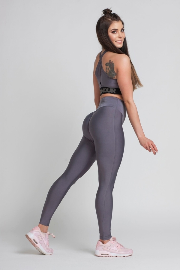 Gym Glamour Legíny High Waist Granite, M - 3
