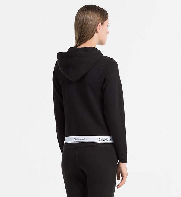 Calvin Klein Mikina So Zipsom Čierna, XS - 3