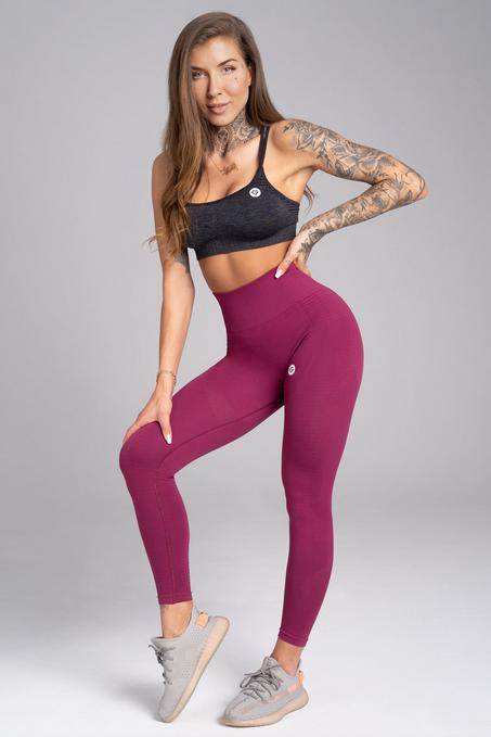 Gym Glamour Legíny Bezšvíkové Jelly Berry, XS - 3