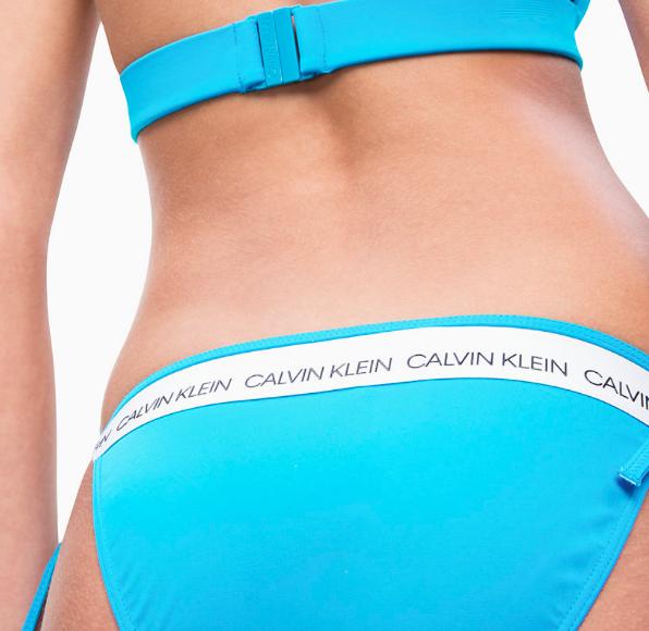 Calvin Klein Plavky CK Logo Maldive Blue Spodný Diel, L - 3