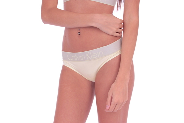 Calvin Klein Tangá Customized Stretch Washed Yellow - 3