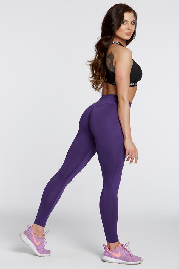 Gym Glamour Legíny High Waist Violet, M - 3