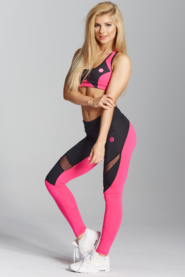 Gym Glamour Legíny Pink Fluo, L - 3