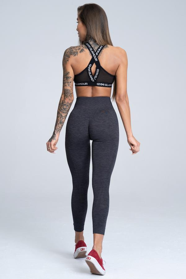 Gym Glamour Legíny Bezšvíkové Grey Melange, L - 3