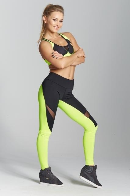 Gym Glamour Legíny Green Fluo, M - 3