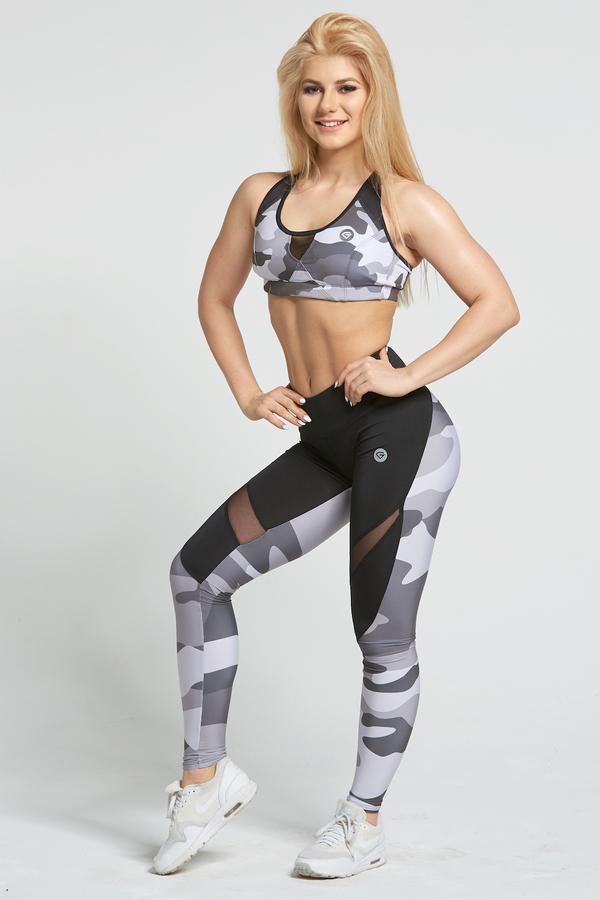 Gym Glamour Legíny Grey Moro, L - 3