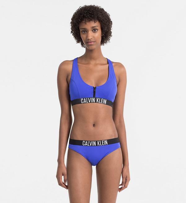 Calvin Klein Plavky Zip Intense Power Modré Vrchní Diel, L - 3