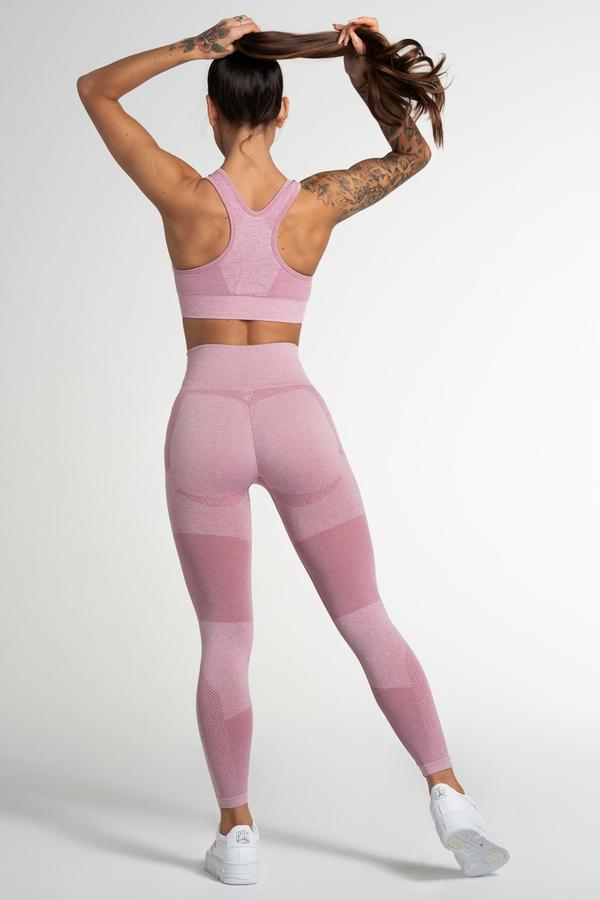 Gym Glamour Legíny Bezšvíkové Pink Fusion, XS - 3