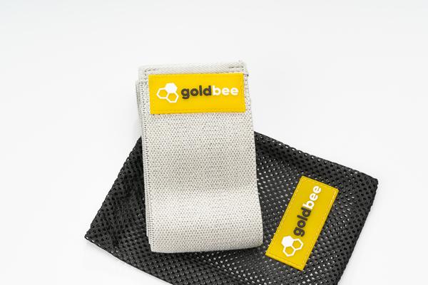 GoldBee Textilná Odporová Guma - Svetlo Sivá, L - 3