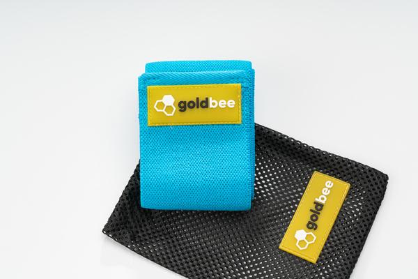 GoldBee Textilná Odporová Guma - Modrá, S - 3