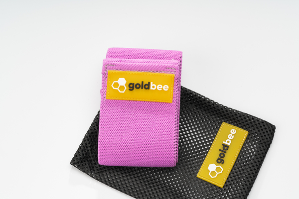 GoldBee Textilná Odporová Guma - Fialová, L - 3
