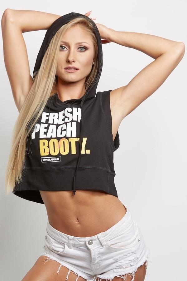 """Gym Glamour Mikina """"Fresh Peach Booty"""" Čierna, S - 4"""