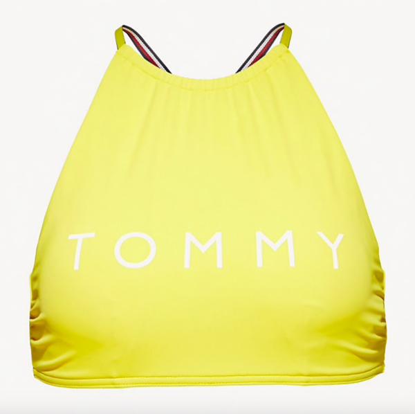 Tommy Hilfiger Plavky Logo Cropped Žlté Vrchný Diel, S - 4