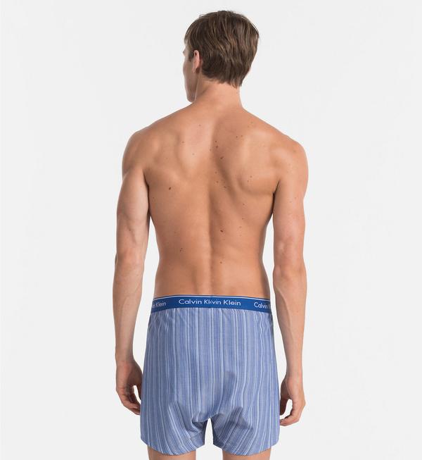 Calvin Klein 2Pack Trenky Modré So Vzormi - 4