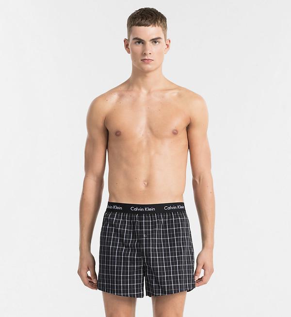 Calvin Klein 2Pack Trenky Čierne So Vzorom - 4