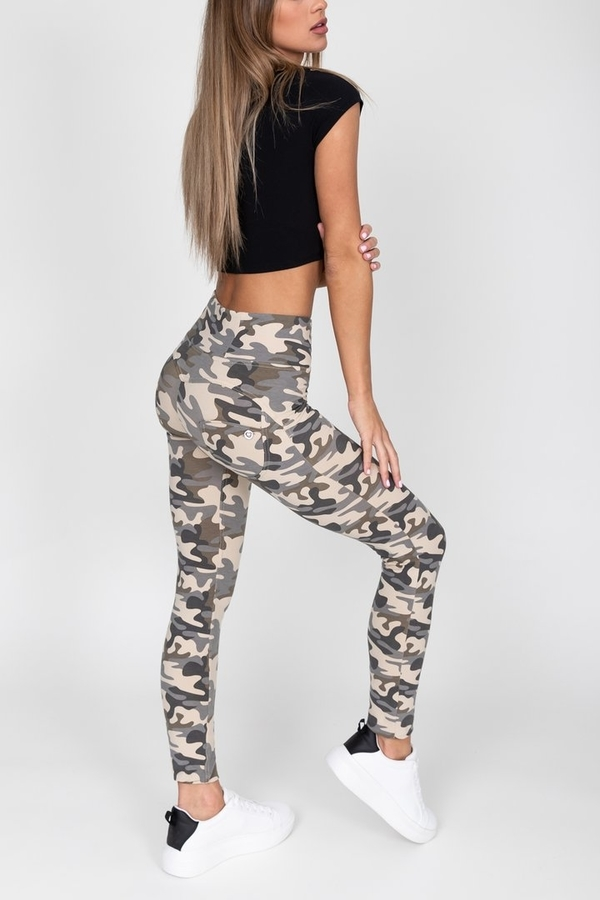 Hugz Camo Light High Waist Jegging, L - 4