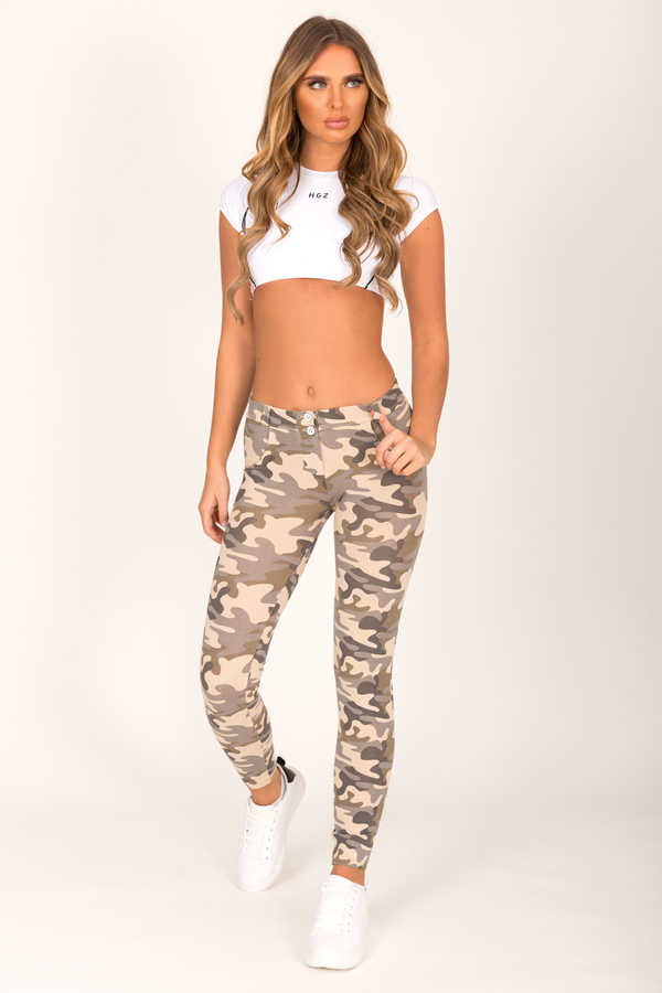 Hugz Camo Light Low Waist Jegging - 4