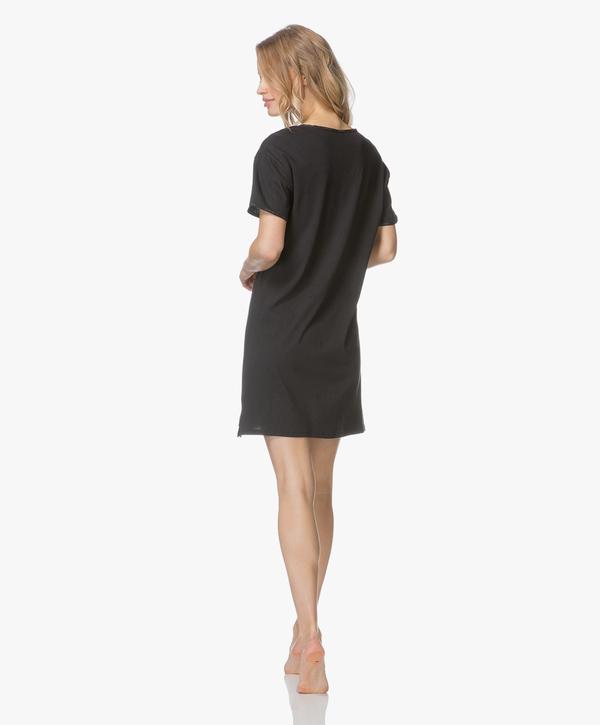 Calvin Klein Dámska Nočná Basic Košieľka Čierna, L - 4