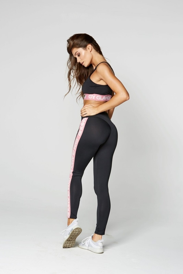 Gym Glamour Legíny High Waist Black, L - 4