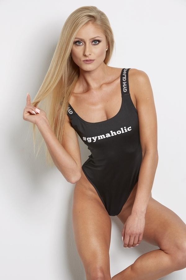 Bodýčko Gym Glamour Čierne, S - 4