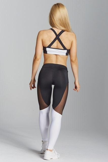 Gym Glamour Legíny Black&White, XS - 4