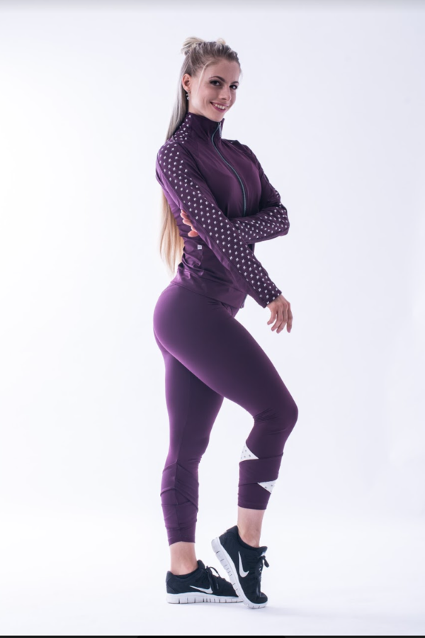 Nebbia 639 Asymmetrical 7/8 Leggings Burgundy - 4
