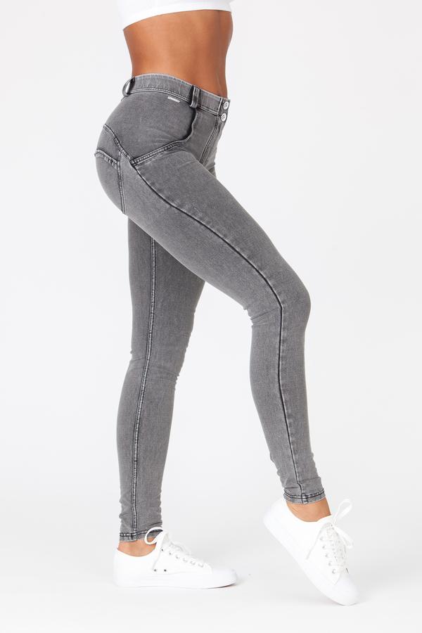 Boost Jeans Mid Waist Grey - 4