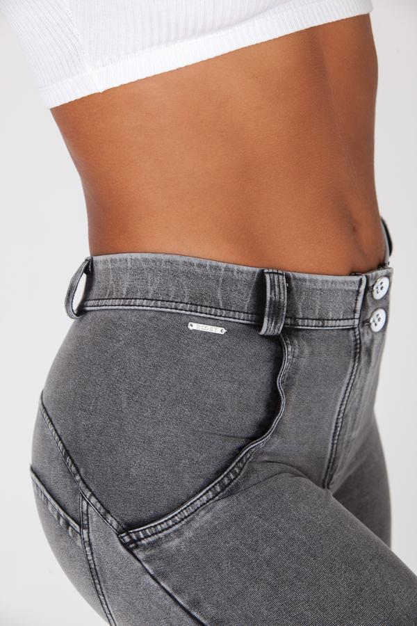 Boost Jeans Mid Waist Grey, XS - 4