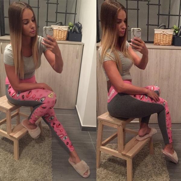 Legíny Gym Glamour Pink Lady, XS - 4