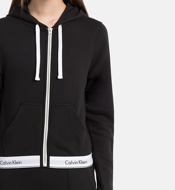 Calvin Klein Mikina So Zipsom Čierna, XS - 4