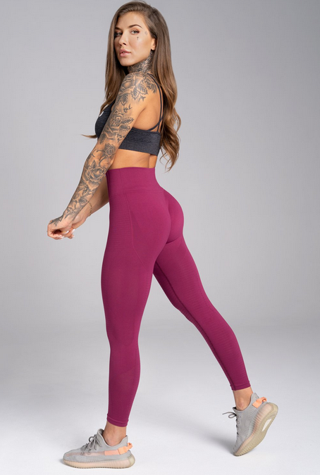 Gym Glamour Legíny Bezšvíkové Jelly Berry, M - 4