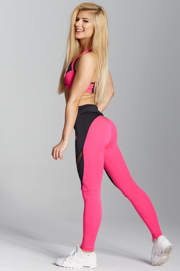 Gym Glamour Legíny Pink Fluo, L - 4