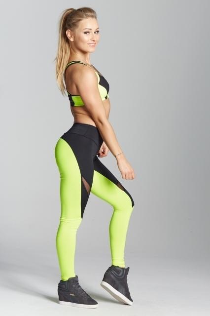 Gym Glamour Legíny Green Fluo, M - 4
