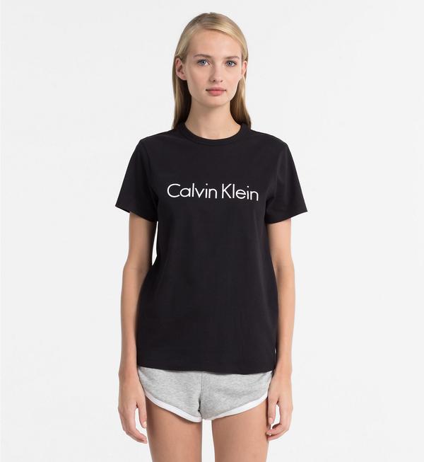 Calvin Klein Dámské Tričko Logo Čierne, S - 4