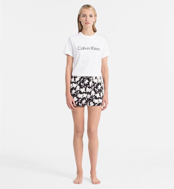 Calvin Klein Dámské Tričko Logo Biele, L - 4