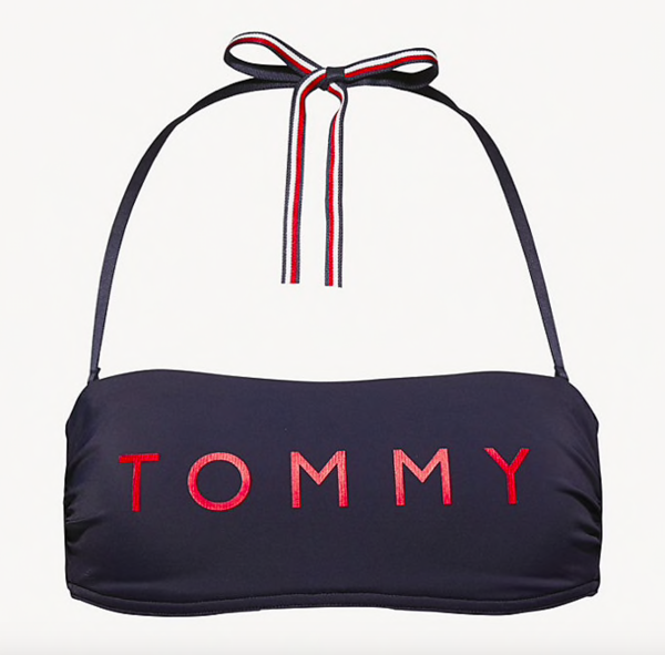 Tommy Hilfiger Plavky Essential Bandeau Navy Vrchný Diel, M - 4