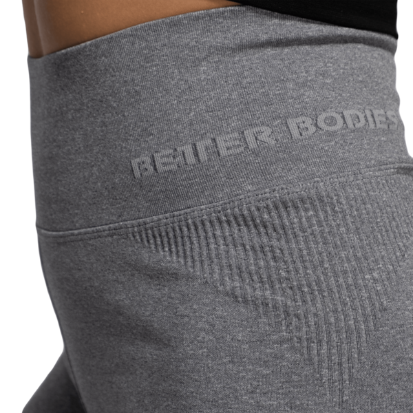Better Bodies Kraťasky Rib Seamless Grey Melange, M - 4