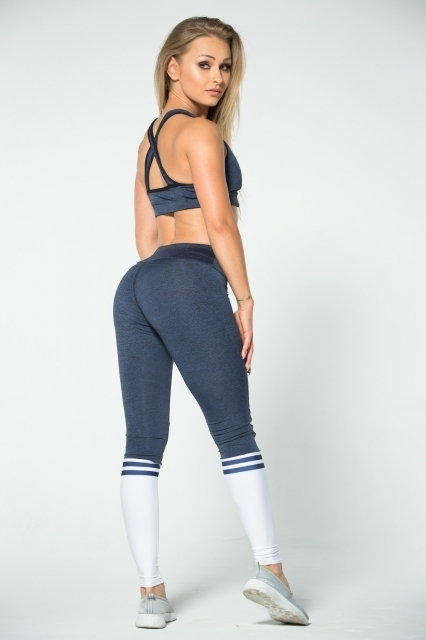 Gym Glamour Legíny Blue Melange & Socks - 5
