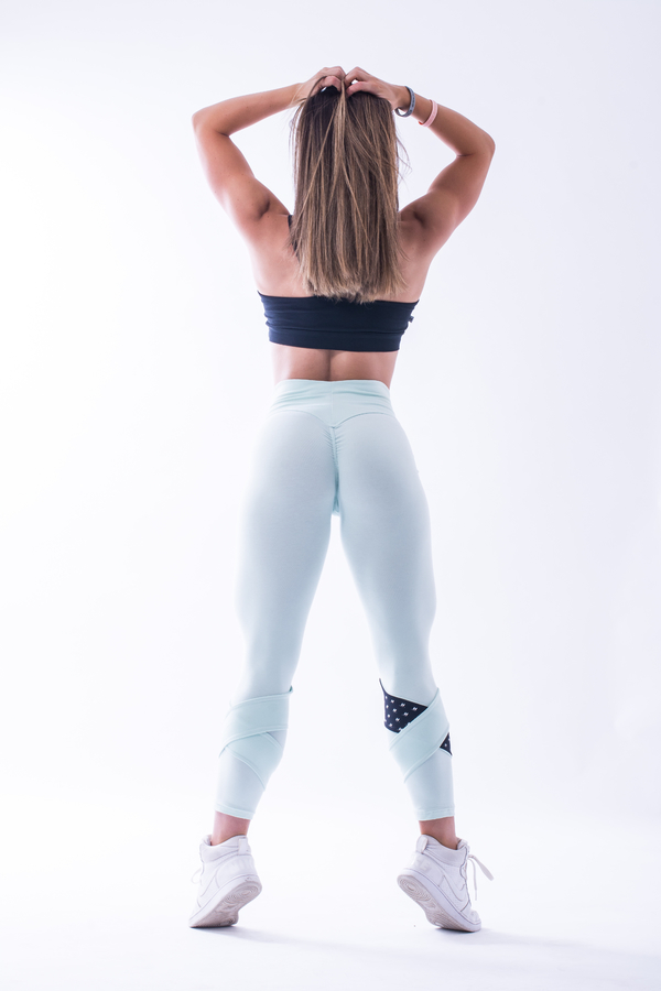 Nebbia 639 Asymmetrical 7/8 Leggings Mint, M - 5