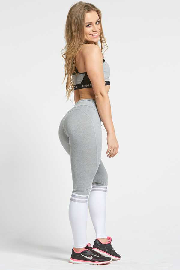 Gym Glamour Legíny Grey & White Socks, XS - 5