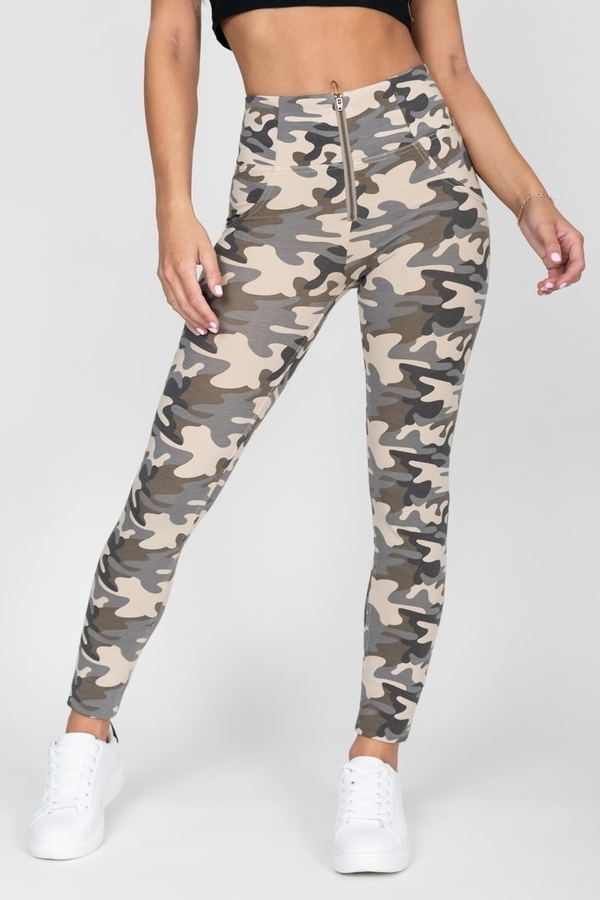 Hugz Camo Light High Waist Jegging, L - 5