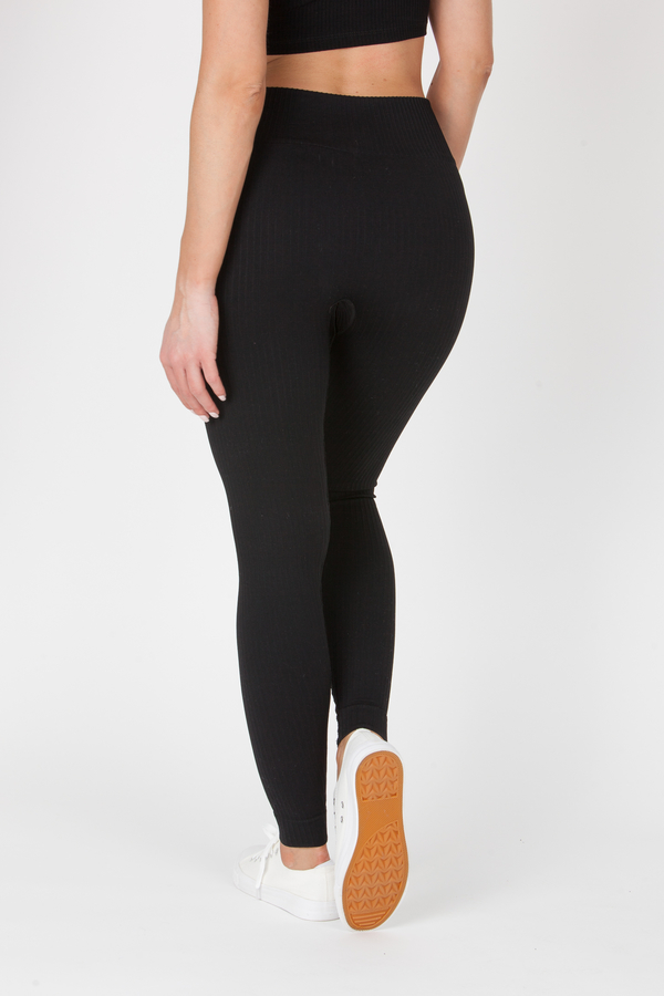 GoldBee Legíny BeSeamless Ribs Black, XS - 5